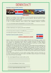 English Worksheet: Democracy