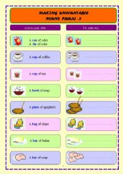 MAKING UNCOUNTABLE NOUNS PLURAL - 3