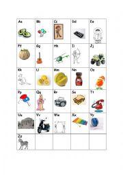 English Worksheet: Teaching the a,b,c - cognates