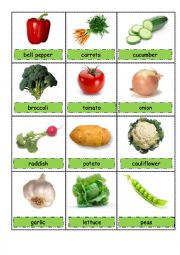 vegetables pictionary