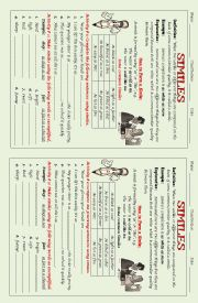 English Worksheet: SIMILES
