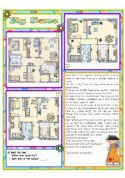 English Worksheet: My Home Part 1