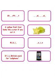 English Worksheet: Pairing up