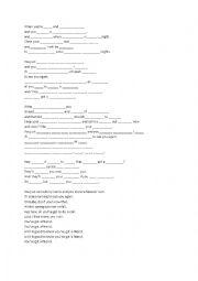 English Worksheet: You´ve got a Friend By James Taylor Lyrics