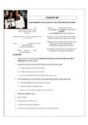 English Worksheet: STAND BY ME-ALTERNATIVE VERSION