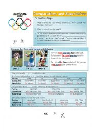 English Worksheet: The London 2012 Olympic Game Medals - Comparatives and Superlatives