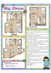 English Worksheet: My Home Part 2