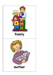English Worksheet: My family - flashcards