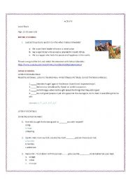 English Worksheet: Nelson Mandela  interview
