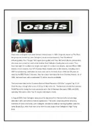 English Worksheet: Oasis