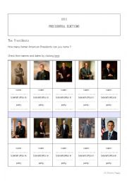 English worksheets: 2012 American Presidential Election