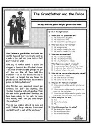 English Worksheet: The Grandfather and the Police