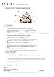 English Worksheet: Friends episode: TOW Fake Monica (verb patterns)