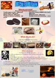 English worksheet: HALLOWEEN DIRT CAKE