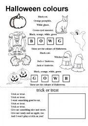 Halloween coloring poem