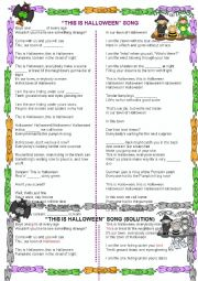 English Exercises: This is Halloween song