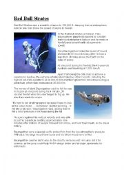 English Worksheet: Felix Baumgarten, Red Bull Stratos Mission