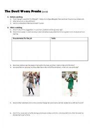 English worksheets: The Devil Wears Prada