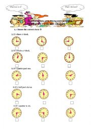 English Worksheet: Telling the time - What time is it?