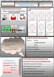 English Worksheet: preparing for the trip part 1