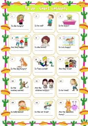 English Worksheet: To be - short answers 1
