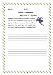 English Worksheet: Writing Composition