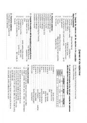English Worksheet: Degrees of adjectives - exercises