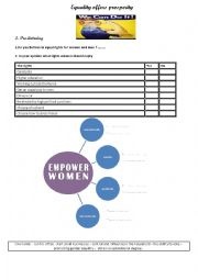 English Worksheet: Women´s rights