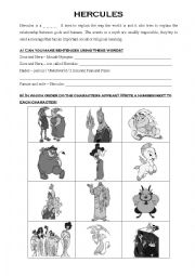 Disney Hercules Movie Questions by ELA and Yearbook Goodies | TpT
