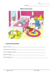 English Worksheet: Where is?