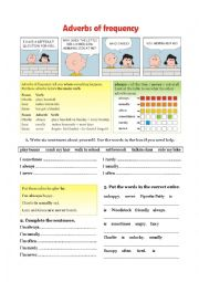English Worksheets: Grammar - Adverbs of frequency