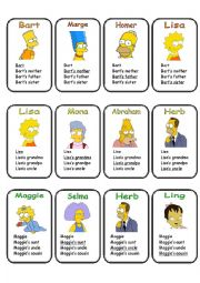 go fish/quartet game - 3 pages, 9 families - family vocabulary