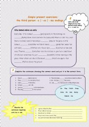 English Worksheet: Third person singular
