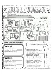 English Worksheet: THERE ARE and THERE IS