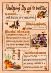THANKSGIVING DAY and its traditions