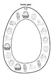 English Worksheet: Easter picture game