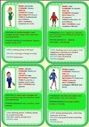 Personal identification - Speaking cards 1 (4)