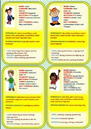 Personal identification - Speaking cards 2 (4)