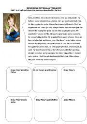 English Worksheet: physical appearances