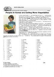 English Worksheet: Eating Habits Test