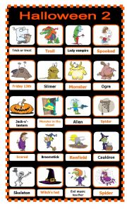 English Worksheet: Halloween Pictionary 2/2
