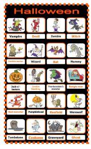 Halloween Pictionary 1/2