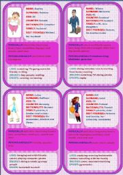 Personal identification - Speaking cards 4 (4)