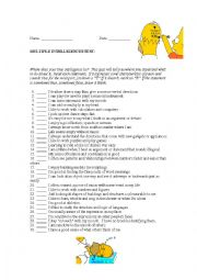 English Worksheet: multiple intelligences