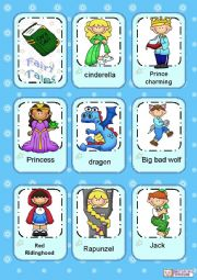 English Worksheet: Fairy Tales flashcards