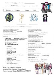 Printables Monster High Worksheets english worksheets monster high worksheet high