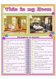 English Worksheet: This is my room