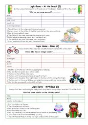 English Worksheet: Logic games for young learners-04 (+key)