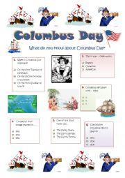 COLUMBUS DAY  - QUIZ