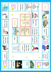 English Worksheet: Frequency Adverbs boardgame